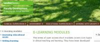 E-learning Modules in Clinical Teaching and Learning